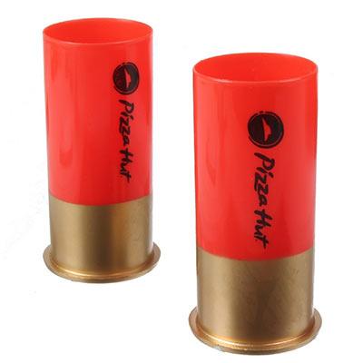 12 Gauge Shotgun Glasses Red Copper