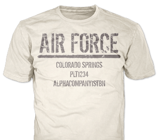 U.S. Air Force custom t-shirt design