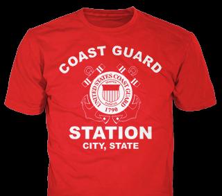 U.S. Coast Guard custom t-shirt design