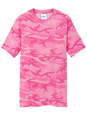 Core Cotton Camo Tee Pink Camo