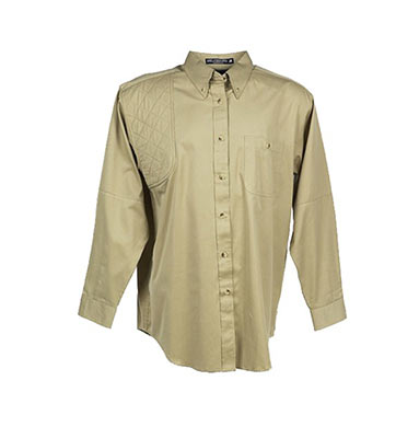Long Sleeve Shooting Shirt Khaki