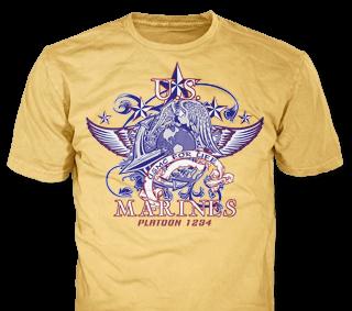 Marines t-shirt design template