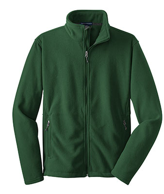 Polyester Fleece Jacket Forest Green