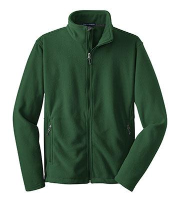 Polyester Fleece Jacket Forest Green