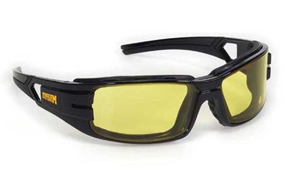 Premium Safety Sun Glasses Amber Yellow Black