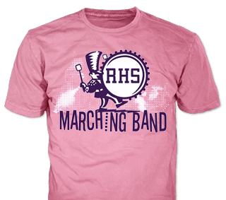 school marching band t-shirt design idea SP2048 on pink t-shirts