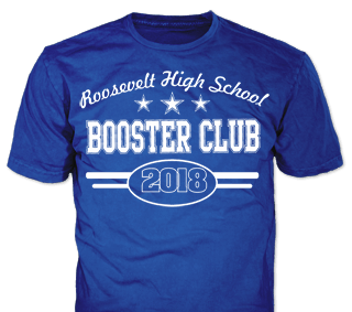 school booster club t-shirt design idea SP6309 on royal t-shirts