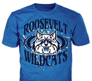 school spirit t-shirt design idea SP2968 on iris blue t-shirts
