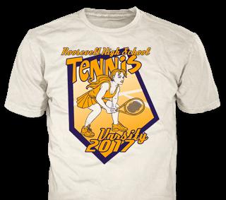 Tennis t-shirt design template