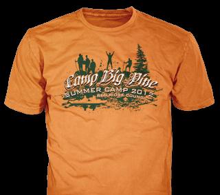 BSA Summer Camp custom t-shirt design