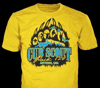 Cub Scout Pack custom t-shirt design