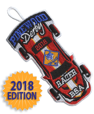pinewood derby cub scout racer patch