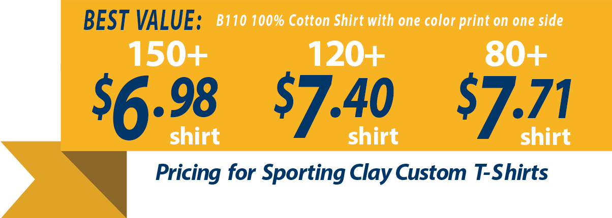 Sporting Clays Custom T-shirts Pricing Graphic