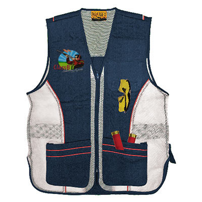 Pocketed Shooting Vest Navy Color