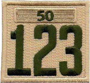 Scout Troop Khaki Unit Numerals