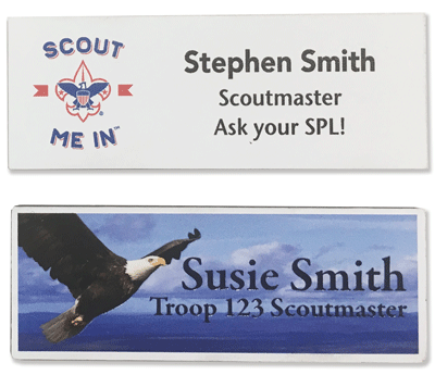 plastic full color Name Tag