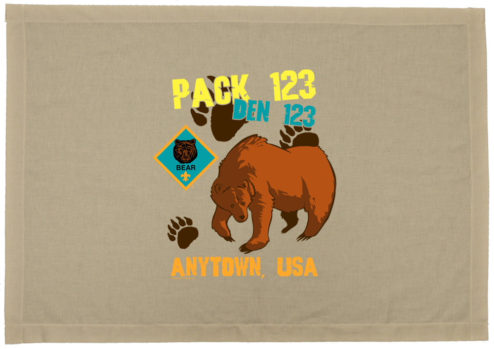 custom printed cub scout bear den flag