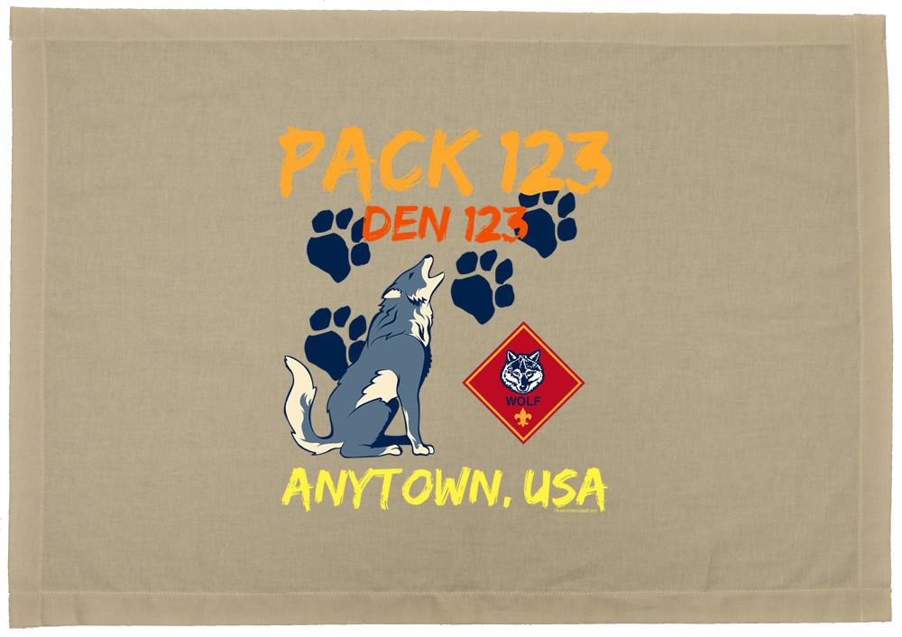 custom printed wolf den flag for cub scouts