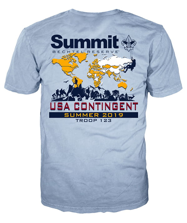 World scout jamboree 2019 t-shirt design idea sp7264