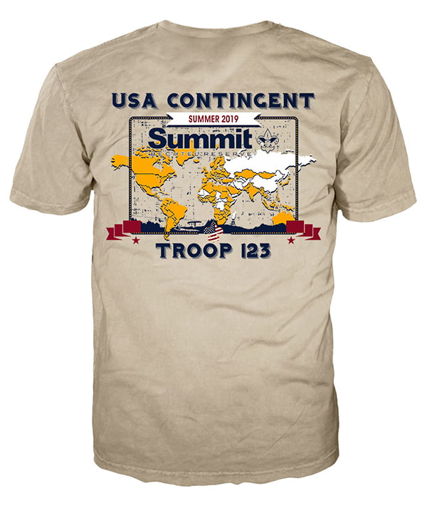 World scout jamboree 2019 t-shirt design idea sp7263