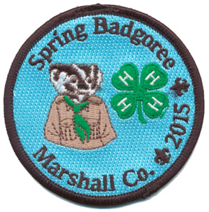 Custom 4-h badgoree embroidered patch