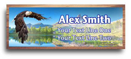 cherry wood full color Name Tag
