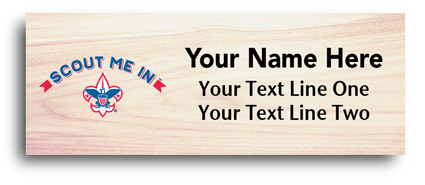 maple wood full color Name Tag