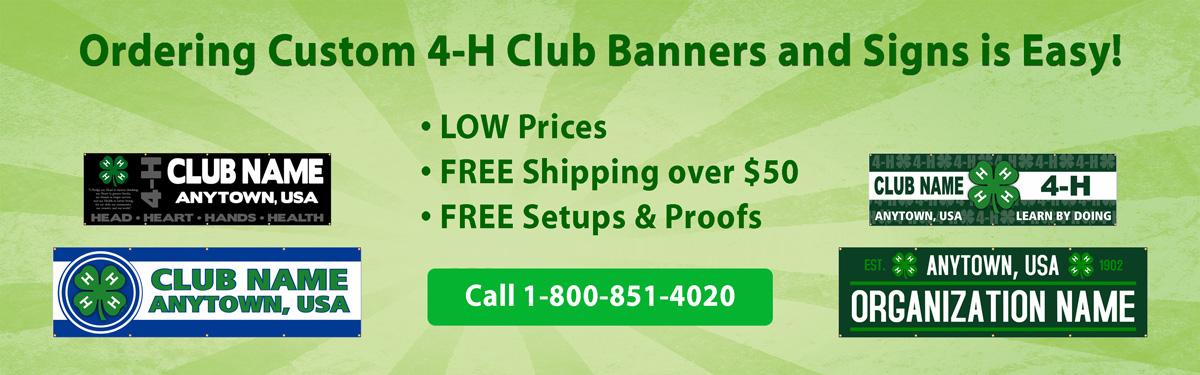 ClassB custom printed 4-h banners