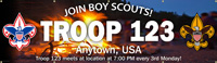 boy scout troop banner