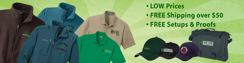 4-H embroidery apparel from ClassB