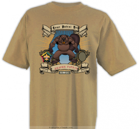 SP3247 wood badge beaver patrol custom t-shirt