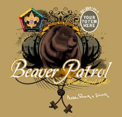 SP3253 beaver wood badge patrol t-shirt