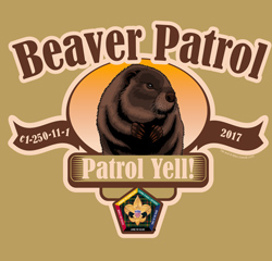 SP3711 Wood Badge patrol beaver t-shirt