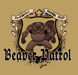 SP3718 Beaver wood badge patrol course t-shirt