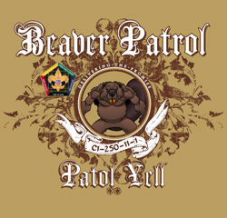 SP3725 beaver wood badge patrol course t-shirt