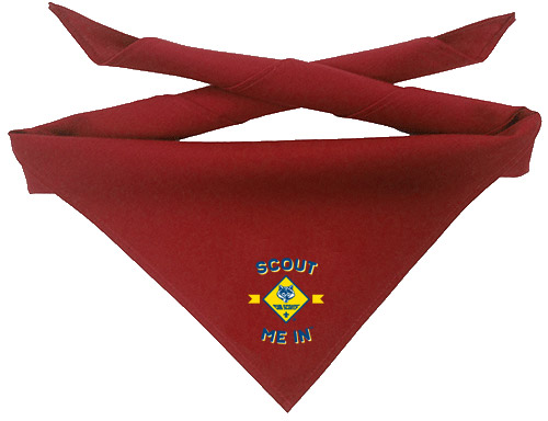 scout me in Cub Scout digital print neckerchief designs