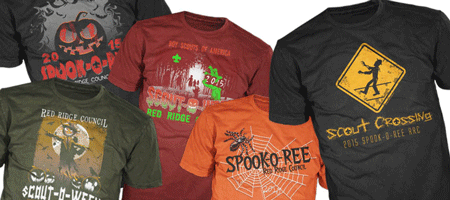 BSA Council spook-o-ree event custom t-shits and scouting gear