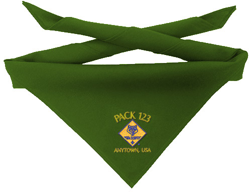 custom Cub Scout neckerchief embroidery design