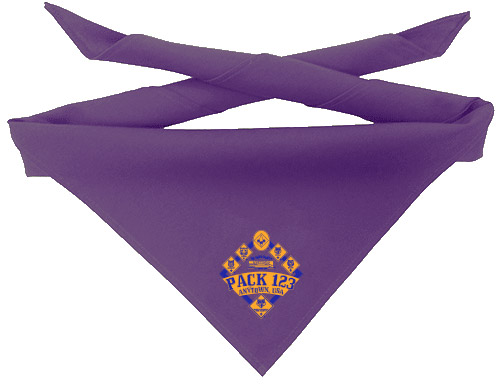 custom screen printed Cub Scout neckerchief