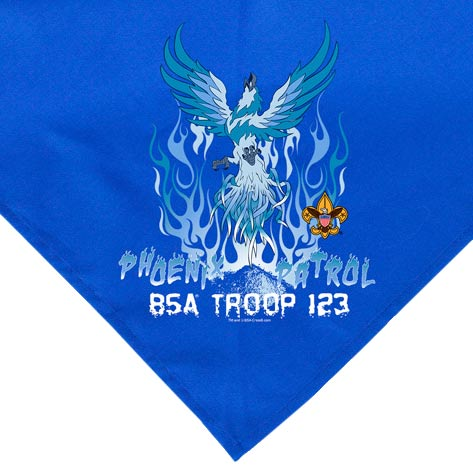 boy scout neckerchief digital printed designs