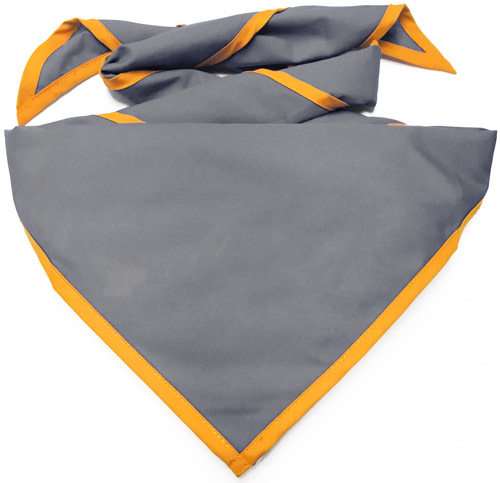 In-stock colored neckerchief with piping color options