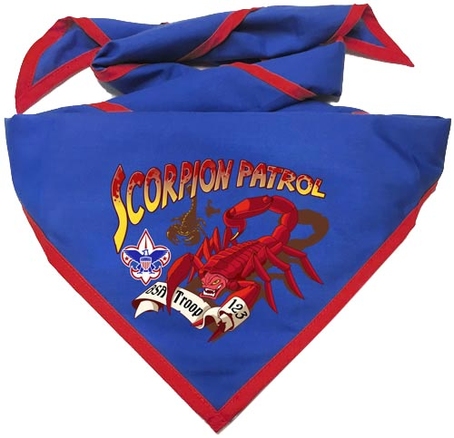 custom printed boy scout patrol neckerchief