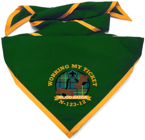wood badge custom neckerchiefs for courses and patrols