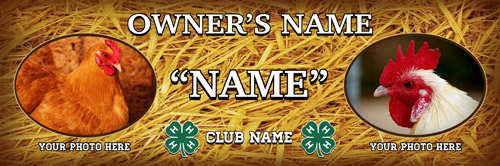 4-h Poultry Stall Banner