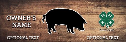 4-h Swine Stall Banner