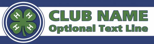 4-H Club blue white vinyl banner