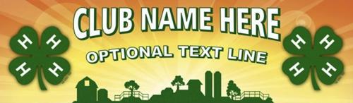 4-H Club yellow farm vinyl banner