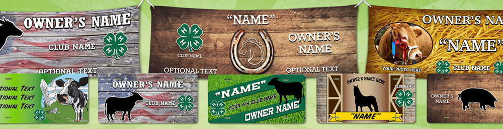 4-h stall tags and banners