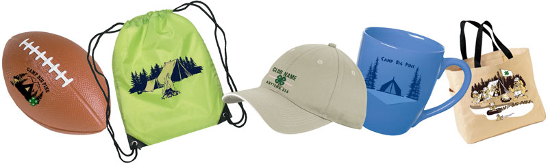 4-H summer camp promotional products