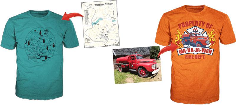 4-H summer camp custom t-shirt examples